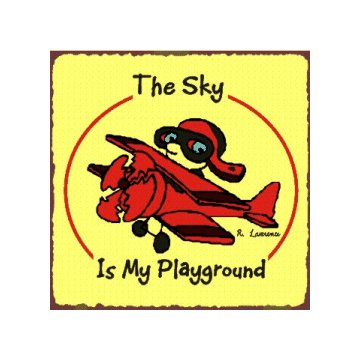 The Sky is My Playground - Airplane Sign - Metal Art Sign
