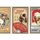 Golden Pug Chinese Buffet - Yorky's Kitchen - Little Chihuahua - Set of 3 Tin Signs