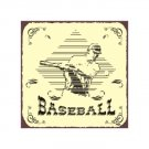 Baseball in Diamond - Metal Art Sign