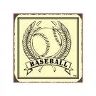 Baseball in Wheat - Metal Art Sign