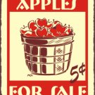 Apples For Sale - 5 Cents - Metal Art Sign