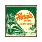 Florida and the Sunny South Train Sign - Metal Art Sign