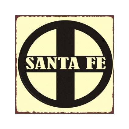 Santa Fe Train Sign - Metal Art Sign