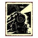 Train Engine - Metal Art Sign