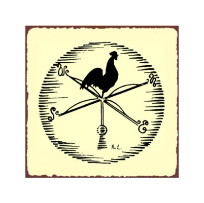 Weathervane Rooster - Metal Art Sign