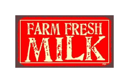 Farm Fresh Milk - Metal Art Sign