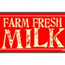 Farm Fresh Milk - Metal Art Sign