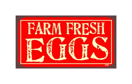 Farm Fresh Eggs - Metal Art Sign