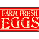 Farm Fresh Eggs - Metal Art Sign