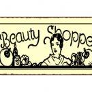 Beauty Shoppe Metal Art Sign