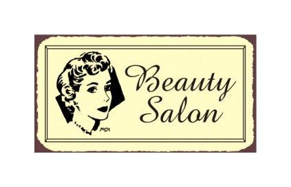 Beauty Salon Metal Art Sign