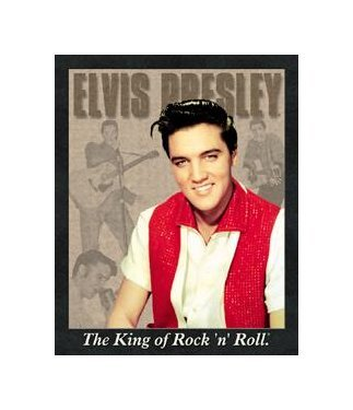Elvis Presley - The King of Rock and Roll Tin Sign