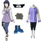 Naruto Shippuden Hinata Hyuga Women's Cosplay Costume and Accessories Set
