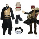 """Naruto Shippuden Gaara Men's Cosplay Costume and Accessories Set"