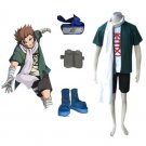 Naruto Akimichi Choujia Men's Cosplay Costume and Accessories Set