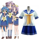 Japanese School Uniform Lucky Star Cosplay Costume Blue