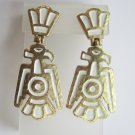Trifari Native American Inspired Bird Earrings c. 1970s