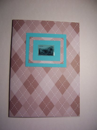 Postage Stamp Notecard