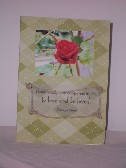 Rose photo notecard - FREE shipping!