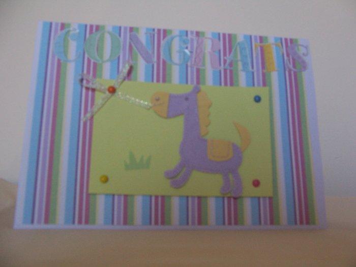 Congrats Baby card - FREE shipping!