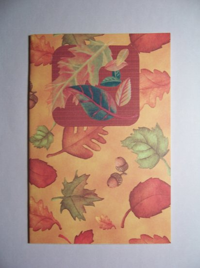 Fall leaves notecard. - FREE shipping!