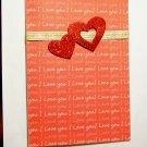 Glitter Heart Valentine - FREE shipping!
