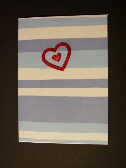 Blue stripe Valentine - FREE shipping!