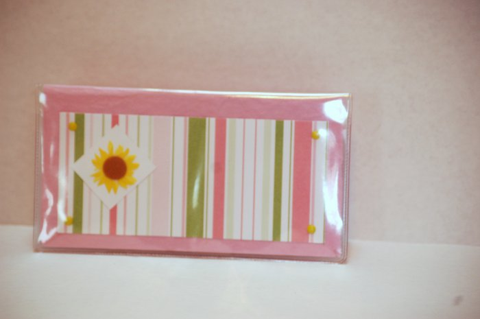 Pink Checkbook cover - FREE shipping!