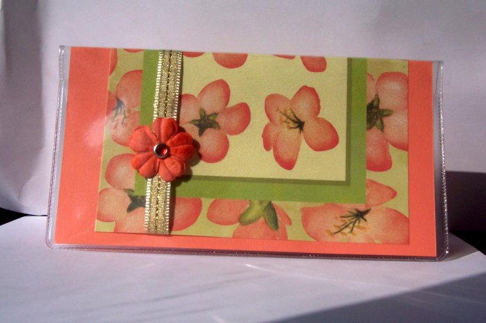 Coral Checkbook Cover - FREE shipping!