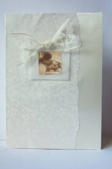 Ivory Wedding Card - FREE shipping!