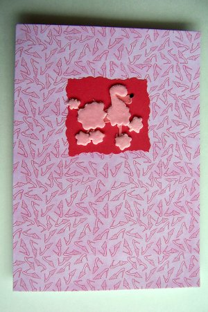 Pink Poodle Birthday Card