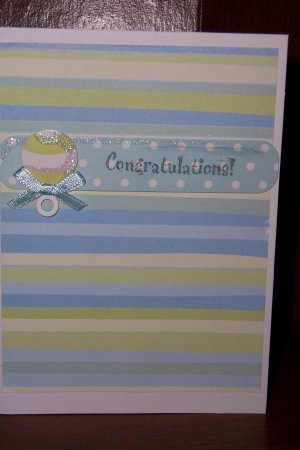 Congratulations Baby Boy - FREE shipping!