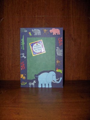 Animal Birthday Card/Picture Frame - FREE shipping!
