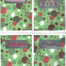 Christmas Dots - set of 12 cards - FREE shipping!