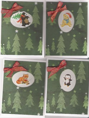 Woodland & Polar Creature Christmas Cards - set of 12 - FREE shipping!