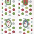 Fun Glitter Christmas Cards - set of 12     - FREE shipping!