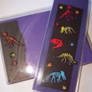 Dinosaur Notecard/Bookmark Set w/ Stickers  -FREE Shipping!