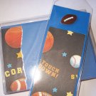 Blue Sports Notecard/Bookmark Set - FREE Shipping!