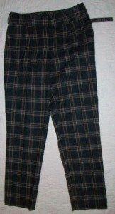 NWT 2 B RYCH Fall Classic Plaid Wool Pants 8 $230 NEW