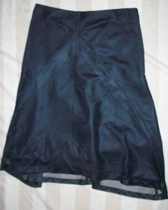 NEW Jil Sander Italy Black Mesh Layered Skirt 27 $545
