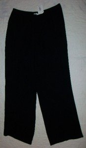 NWT Emmelle USA Black 100% Silk Elastic Pants L$340 NEW