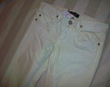 NWT ODYN Gold Embellish Pale Mint Jeans 25 28 x34 $185