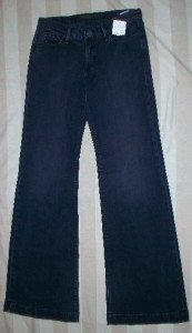 GOLDSIGN LELA Low Rise Boot Cut Jeans 26 32 x34$221 NEW