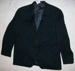 NWT Alfani Black 100% Wool Blazer Jacket 48 R $325 NEW