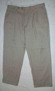 NWT Tasso Elba Khaki Pants Cashmere 37 x 28.5 $150 NEW