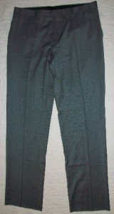 NWT IZOD Gray Slacks Dress Pants Trousers 35 34$129 NEW