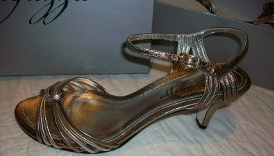Ragazza Waltz Leather Gold Silver Heels 8.5$125 NEW NIB