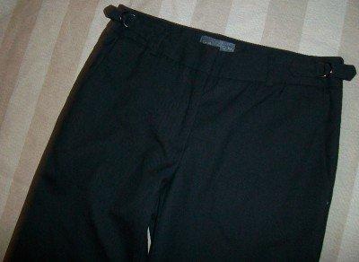 NEW GRAYDN Textured Black Side Tab Trouser Pants 2 $342