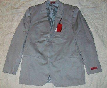 NWT Alfani Gray Cotton Blazer Jacket 44 L $250 NEW