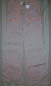 NWT PAOLA FRANI Wide Leg Pink Chino Pants 42 6 $358 NEW